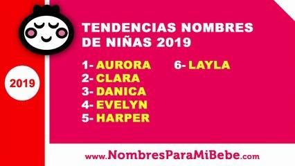 Tendencias nombres de niñas 2019 - los mejores nombres de bebé - www.nombresparamibebe.com