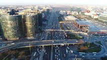 Yarıyıl Tatili Bitti, Trafik Yoğunluğu Arttı... Trafik Yoğunluğu Havadan Görüntülendi