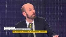 """Emmanuel Macron à Evry-Courcouronnes  """"Ce sera la cinquième fois que le Président de la République va aller à l'encontre... à la rencontre des élus locaux"""" se corrige Stanislas Guerini, délégué général #LREM"""