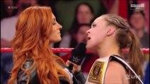 (ITA) Becky Lynch sfida Ronda Rousey a WrestleMania 35 - WWE RAW 28/01/2019