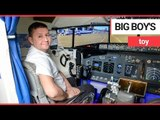 Plane-loving father of two builds flight simulator in dining room | SWNS TV