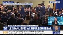 Grand débat: Emmanuel Macron face aux élus de banlieue à Evry-Courcouronnes