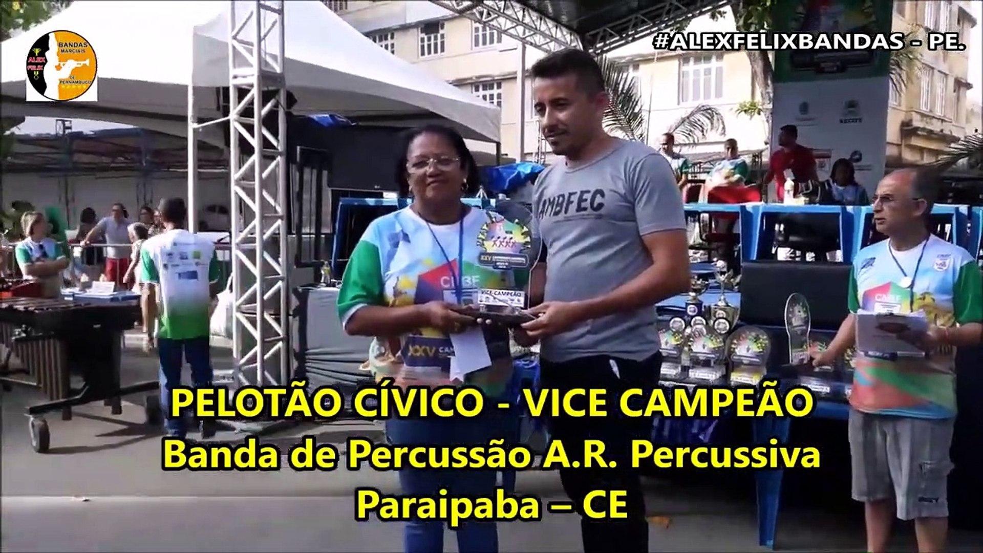 RESULTADO BANDA DE PERCUSSÃO SÊNIOR 2018 - XXV CAMPEONATO NACIONAL DE BANDAS E FANFARRAS