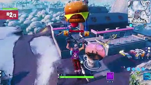Fortnite WEEK 9 Dance on Top of a Sundial, Oversized Cup of Coffee and Giant Dog Head (Season 7)