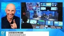 """Emmanuel Macron : """"L'opposition c'est comme un supporter, ça gueule 'aux chiottes l'arbitre' mais sur un terrain ça ne ferait pas mieux !"""" (Canteloup)"""