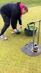 Golf Sahasındaki Deliklerin Açılma ve Kapatılma İşlemlerinin Yapımı