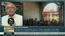 El Salvador: tribunal electoral recibe casi la totalidad de las actas