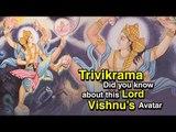 Trivikrama - Did you know about this Lord Vishnu's Avatar | Bhagavan Vishnu in Trivikrama Avatar