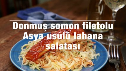 Donmus Somon Filetolu Asya Usulu Lahana Salatasi