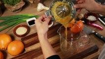 Pollo ala naranja al horno con sesamo