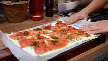 Caracoles De Hojaldre Y Salmon