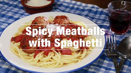Spicy Meatballs With Spaghetti