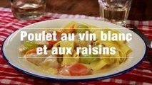 Poulet Au Vin Blanc Et Aux Raisins