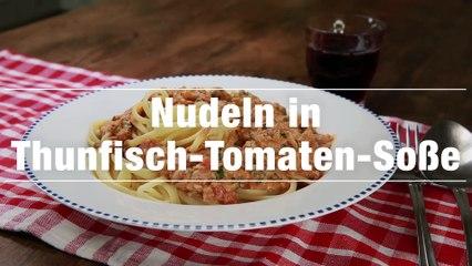 Nudeln in Thunfisch-Tomaten-Käse Sauce Rezept