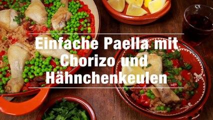 Rezept - Paella mit Chorizo und Hähnchenkeulen
