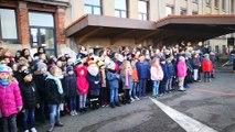 Les enfants de l'école du Habsterdick chantent pour Patricia Kaas