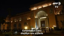 """Exhibition of """"rare"""" antiquities at Egyptian museum in Cairo"""