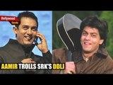 Aamir Khan Spoofs Shah Rukh's Famous DDLJ Scene