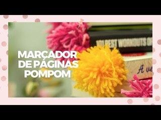 Marcador de página de pompom - DIY