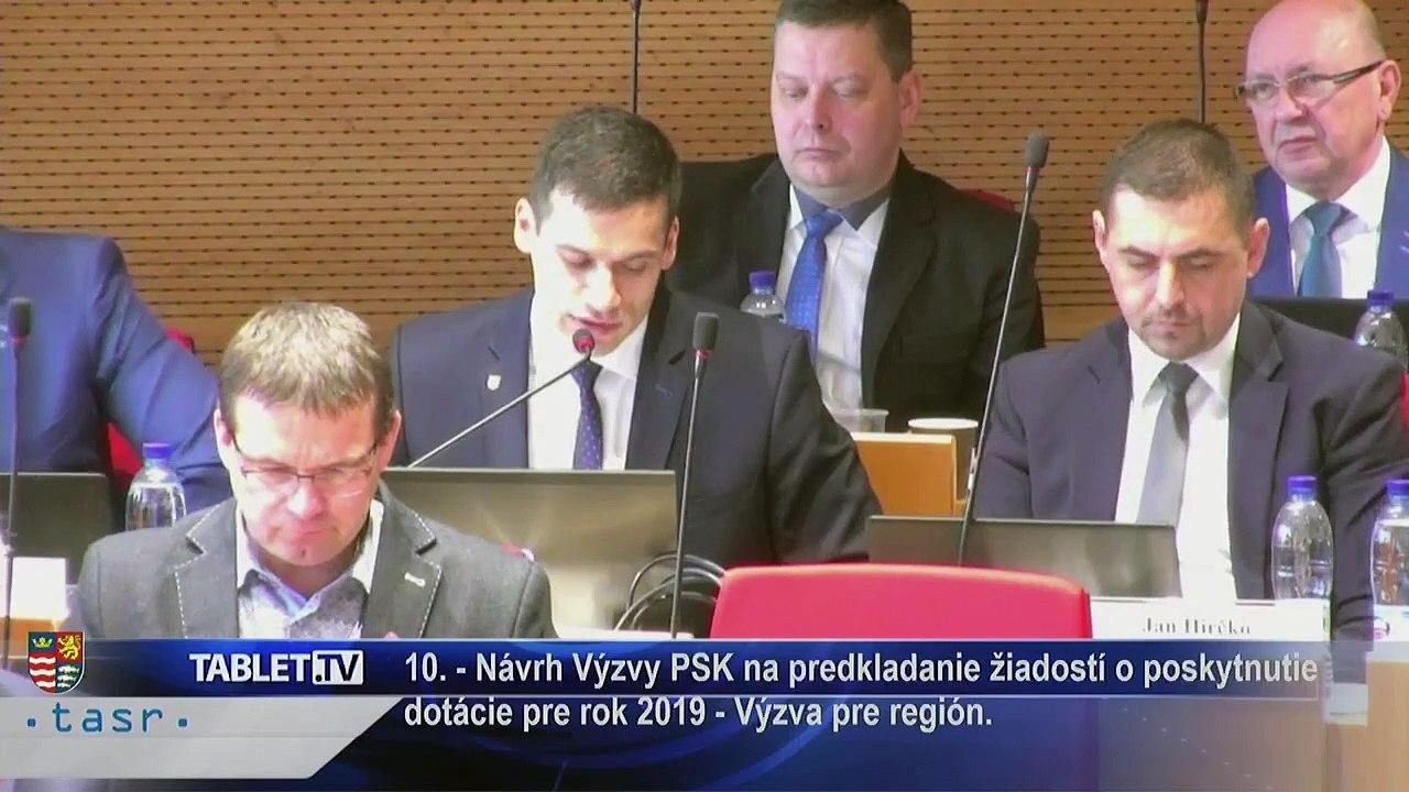 PREŠOV-PSK 11: Záznam zasadnutia Zastupiteľstva Prešovského samosprávneho kraja (PSK)