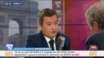"""Gérald Darmanin : """"Je serai évidemment candidat aux municipales à Tourcoing"""""""