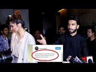 Ranveer Singh welcomes Deepika's arch rival Katrina Kaif on Instagram