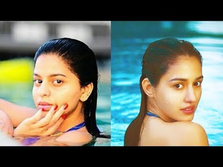 Shah Rukh Khan's Daughter Suhana Khan swimming pool Vs Disha Patani swimming pool!