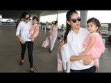 Mira Rajput with her CUTE daughter Misha spotted at Mumbai airport