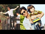 Shahrukh Khan With CUTE Son Abram Khan Birthday 2017 Celebration With FANS At Mannat