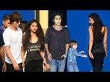 Shahrukh Khan With Family - Daughter Suhana Khan,Sons Abram & Aryan Khan & Wife Gauri At School