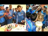 Virat Kohli,MS Dhoni Celebrate Manish Pandey's Birthday With Indian Cricket Team In South Africa