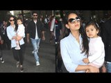 Shahid Kapoor SPOTTED With Wife Mira Rajput and CUTE Daughter Misha At Mumbai Airport