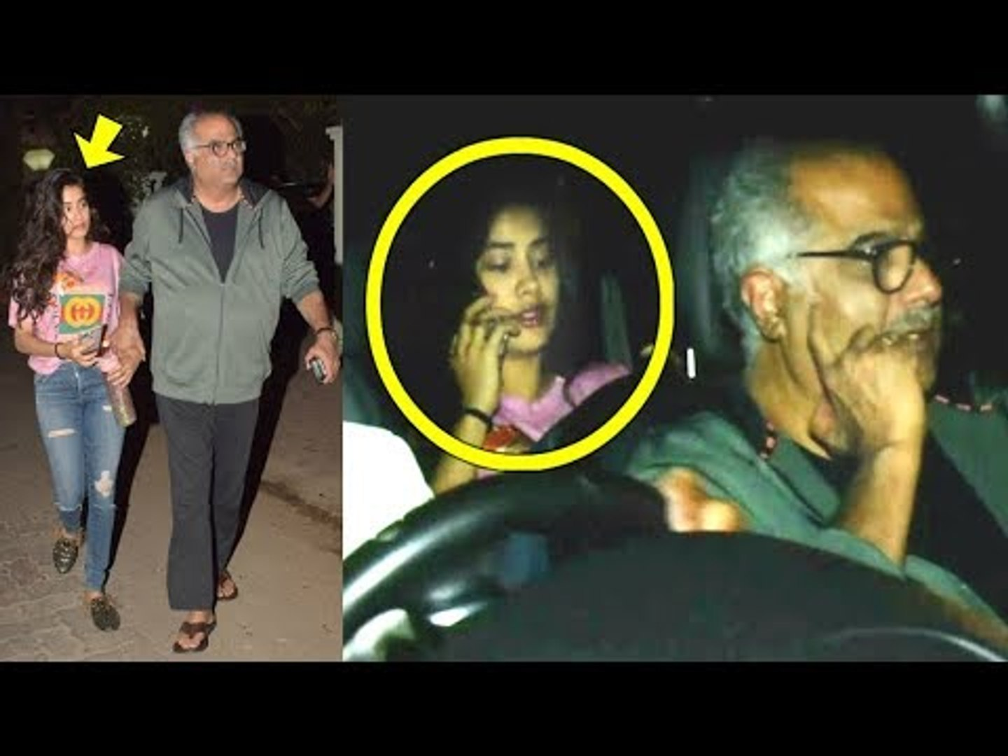 Sridevi's Daughter Jhanvi Kapoor VISITS Brother Arjun Kapoor's House With Father Boney Kap
