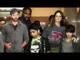Hrithik Roshan With Ex Wife Sussanne and Kids Hridhaan & Hrehaan Roshan Spotted at PVR Cinemas Juhu
