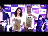 Tapsee Pannu & Anubhav Sinha Visit Cinemaghar for Mulk Movie Public Reaction