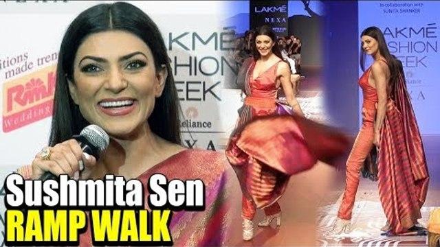 GORGEOUS Sushmita Sen RAMP WALK At Lakme Fashion Week | FULL RAMP WALK