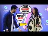 PREGNANT Neha Dhupia GETS UNCOMFORTABLE   Hubby Angad Bedi GETS TENSED