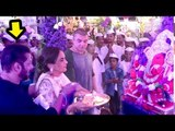Salman Khan Performs AARTI At Sister Arpita Khan Sharma's GRAND Ganpati Celebrations 2018