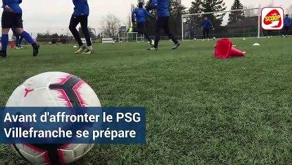 Coupe de France : dernier entrainement pour Villefranche-Beaujolais avant la réception du PSG