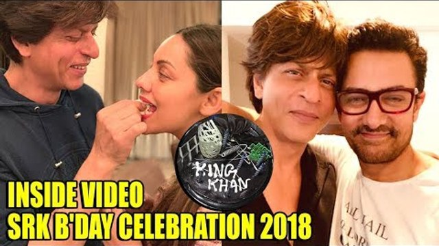 Inside Video : Shahrukh Khan CELEBRATES B'day with Wife Gauri Khan & Aamir Khan