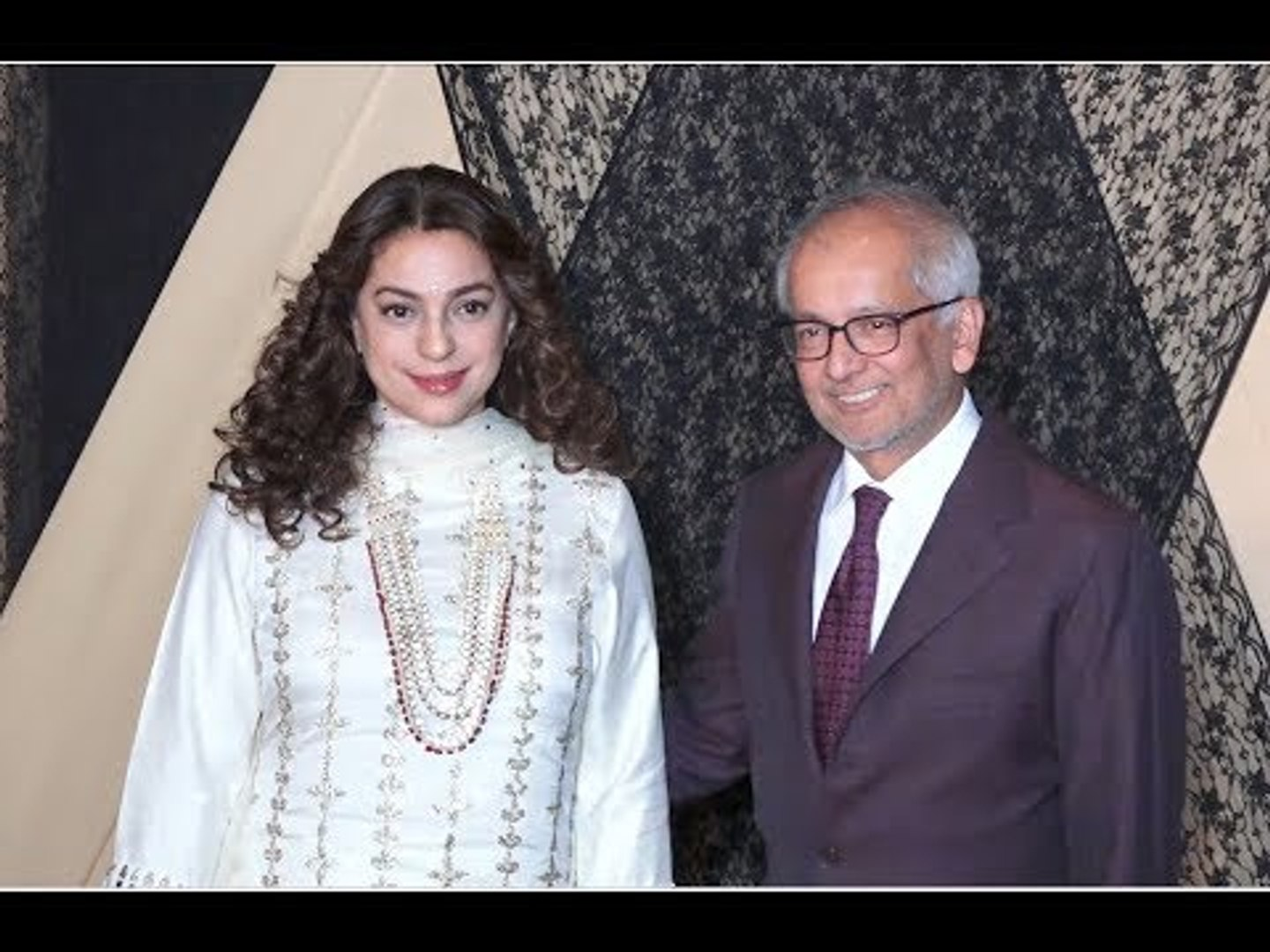 MIsMatch Jodi Juhi Chawla With Husband Jay Mehta At Alia Bhatt's sis  Wedding Reception