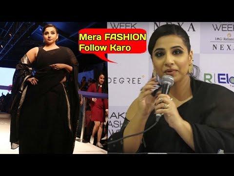 WOW Vidya balan CURVY Look at 40 will DRIVE you CRAZY.Lakme Fashion Week 2019. http://bit.ly/2XkAJCx