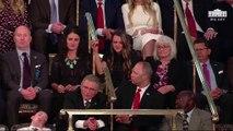 Invité pour le discours sur l'état de l'Union de Donald Trump, un jeune s'endort en pleine allocution du Président - VIDEO