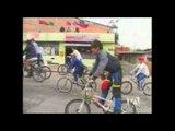 Personas con discapacidad visual participaron en ciclo paseo en Tulcán