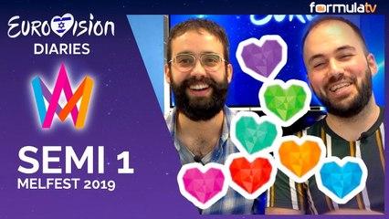 Reacción a la Semifinal 1 del Melodifestivalen 2019 - Eurovisión Diaries