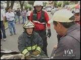 Daños materiales deja accidente de tránsito en el norte de Quito