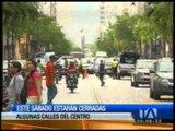 Mañana se cerrarán varias calles de Guayaquil