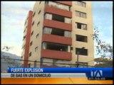 Explosión en edificio del norte de Quito deja varios heridos