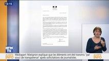 Perquisitions à Mediapart, selon ce document BFMTV, Matignon a remis à la justice des éléments qui ont mené à l'ouverture de l'enquête