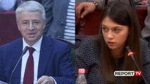 Report TV - Ministri Lleshaj, deputetes së LSI: Me ty do flas kur të mbarosh universitetin